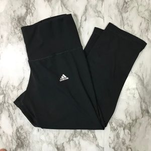 Adidas Black Cropped Leggings Size Small